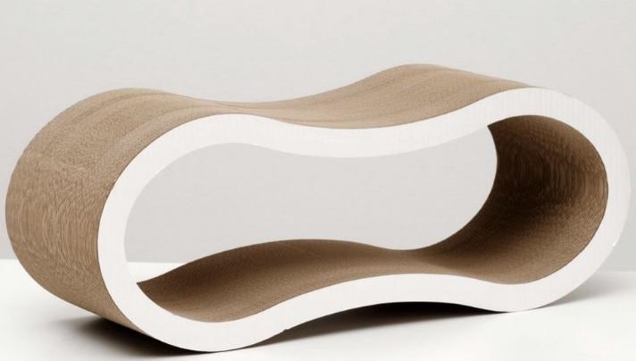 когтедралка лежанка из картона